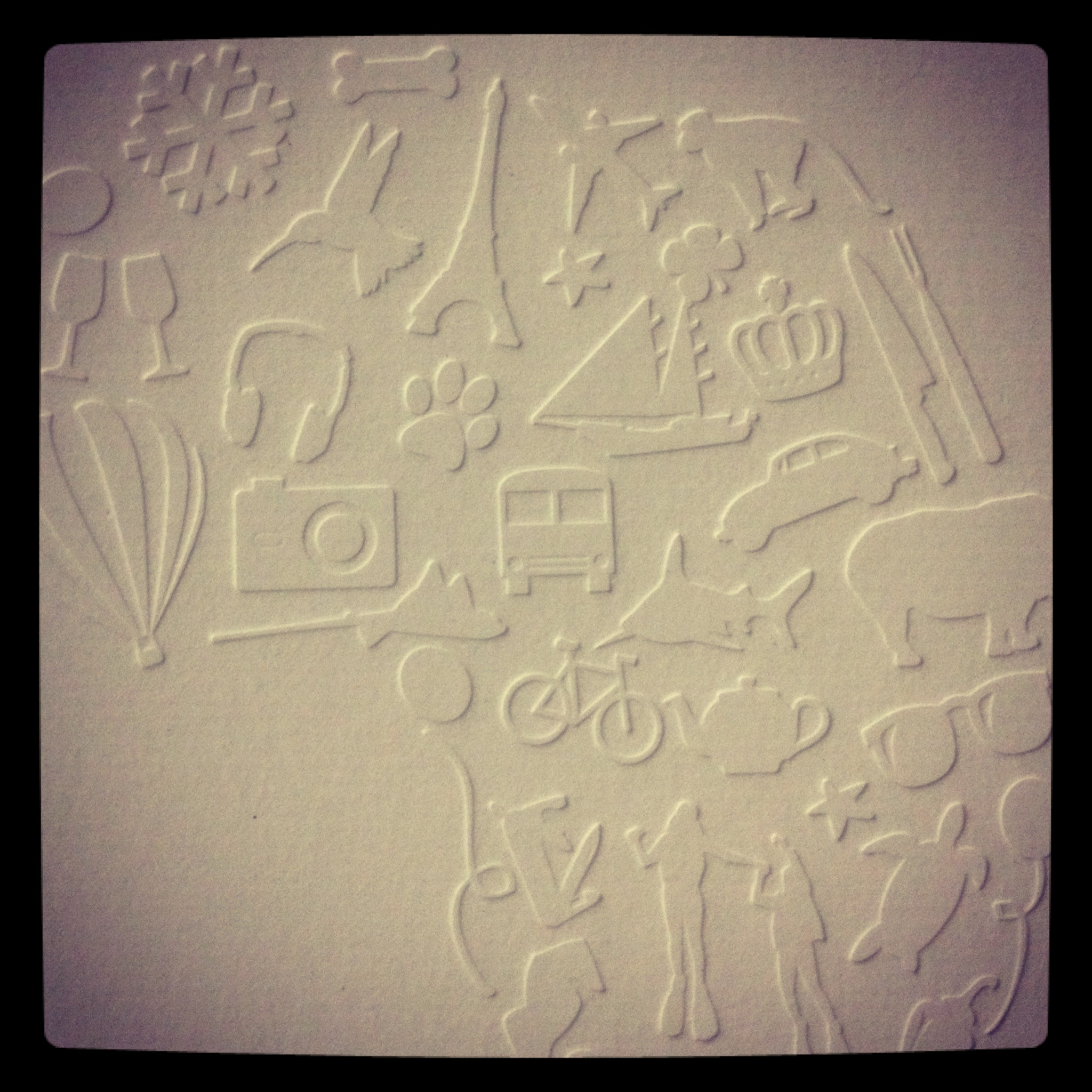 blind-embossing Invite