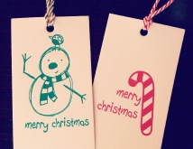 Letterpress christmas tags