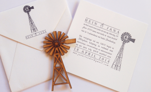 letterpress wedding invite - 2