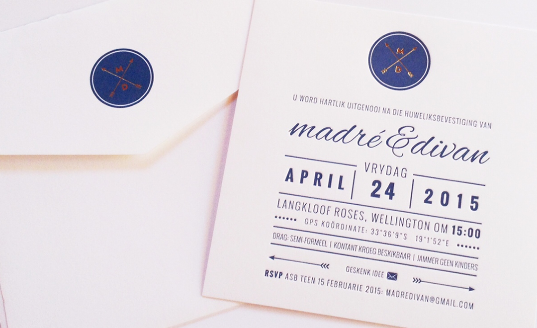 letterpress wedding invite - 3