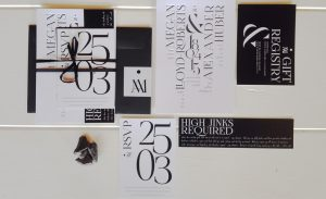 Black and white wedding theme, wedding invites, letterpress invites, modern invites