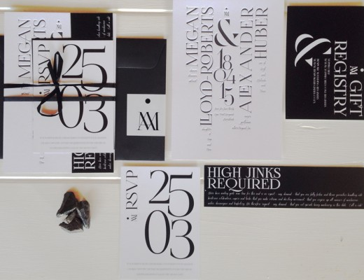 Black and white wedding theme, wedding invites, letterpress invites, modern invites