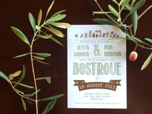 Designed wedding invitations
