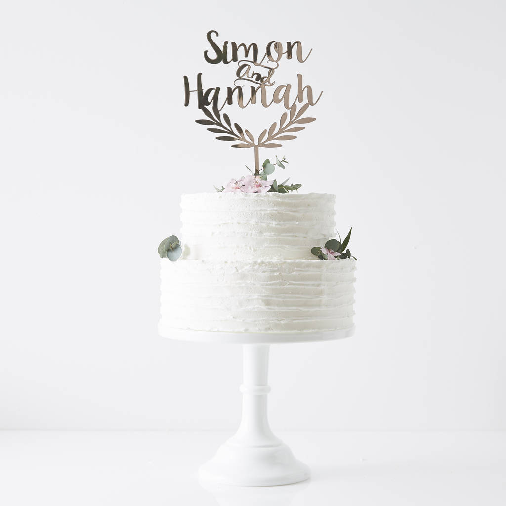 Leaf Wedding Cake Toppers