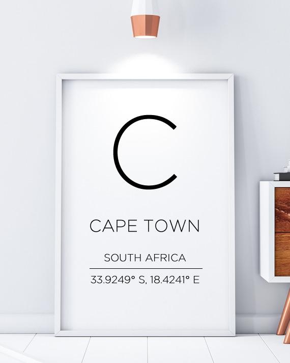 Cape Town Minimal Scandinavian Print