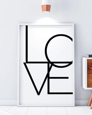 Love Minimal Scandinavian Print