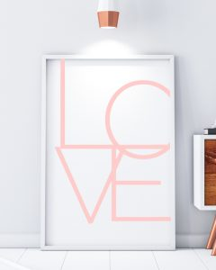 Love, Scandinavian print, minimal wall art