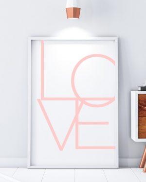 Love, Scandinavian print, minimal wall art