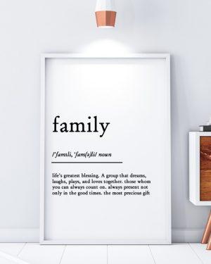 Family Minimal Scandinavian Print