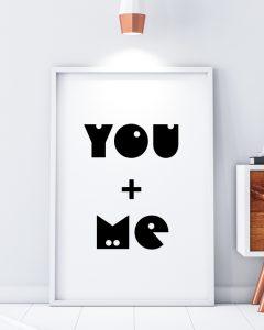 You and Me Minimal Print