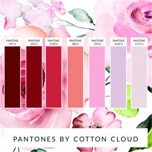 PANTONE COLOUR CHART SOFT PURPLE AND PINKS